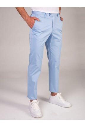 Dufy Açık Mavi Düz Sık Dokuma Erkek Pantolon - Regular Fıt 0