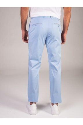 Dufy Açık Mavi Düz Sık Dokuma Erkek Pantolon - Regular Fıt 2