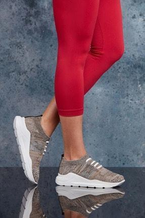 Bej Kadın Sneaker resmi