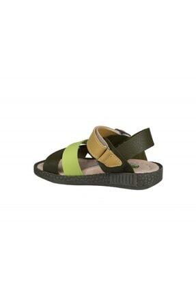 Şirin Bebe 201-21 (22-25 Arası) Ortopedik Yeşil Çocuk Sandalet 3