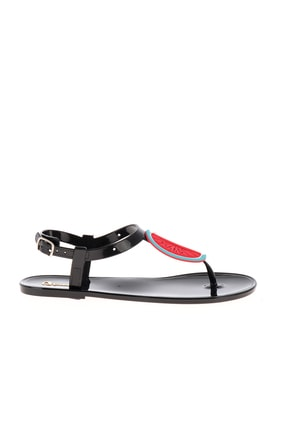 Bambi Siyah Naylon Kadın Sandalet L0500902199 2