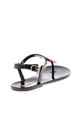 Bambi Siyah Naylon Kadın Sandalet L0500902199 4