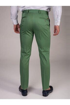 Dufy Yeşil Düz Sık Dokuma Erkek Pantolon - Slım Fıt 1