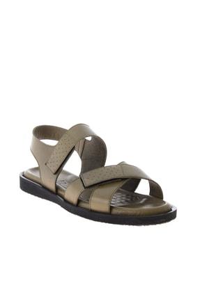 Bambi Hakiki Deri Haki Erkek Sandalet L1801043403 2