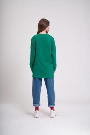 Mizalle Youth Dna Baskılı Sweatshirt (Yeşil) 2