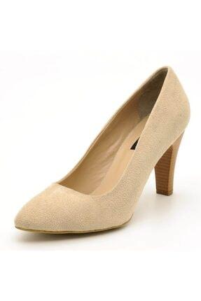 İriadam 1923 Bej Suet Topuklu Büyük Numara Kadın Ayakkabıları 0