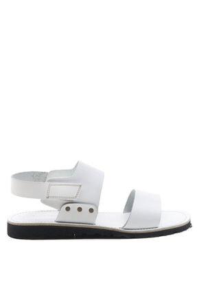 Bulldozer 201772 Beyaz Erkek Deri Sandalet 0