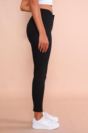 Cappmoda Pnt-07010 Siyah Arka Cepli Yüksek Bel Pantolon Xl 2