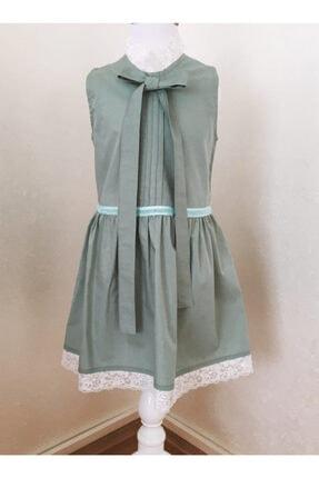 BZ Tasarım Yeşil Çocuk Elbise 1