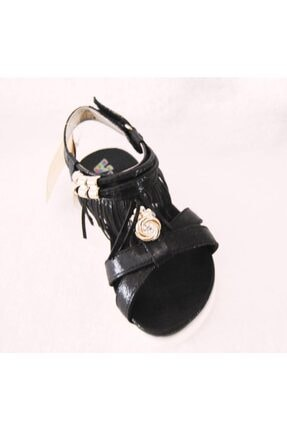 Vicco 928.z.689 Siyah Püsküllü Taşlı Sandalet 1