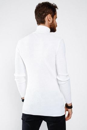 Lafaba Erkek Beyaz Boğazlı Triko 3