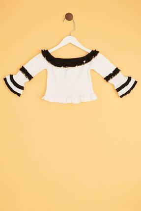 Tyess Kız Çocuk Ekru Bluz 1