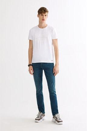 Avva Erkek Beyaz Bisiklet Yaka Baskılı T-shirt A01y1020 3
