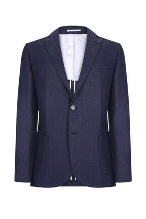 W Collection Lacivert Mıcro Desen Blazer 0