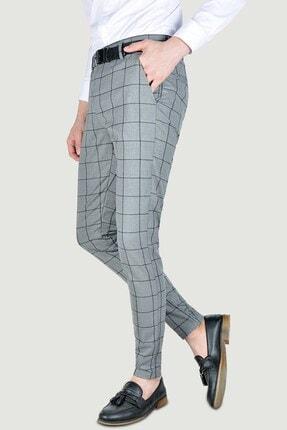 Terapi Men Erkek Ekoseli Slim Fit Keten Pantolon 20y-2200275 Antrasit 1
