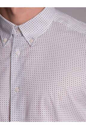 Dufy Krem Desenli Pamuklu Erkek Gömlek - Regular Fit 1