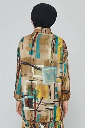 Armine Kadın Yeşili Yağ Bluz 20k3908 2