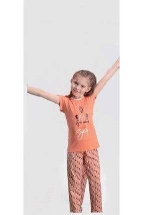 تصویر از 104 Kısa Kollu Kız Çocuk Pijama Takımı - Yavruağzı