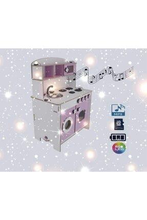 PARSTEK Ahşap Çocuk Mutfak Eğitici Müzikli Işıklı ve Pilli Sd,mp3 0