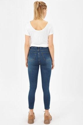 Arma Life Kadın Çağla Tint Taşlanmış Lazerli Yüksek Bel Likralı Pantolon 3