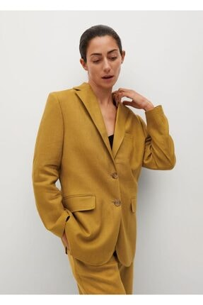 Picture of %100 Keten Blazer Ceket