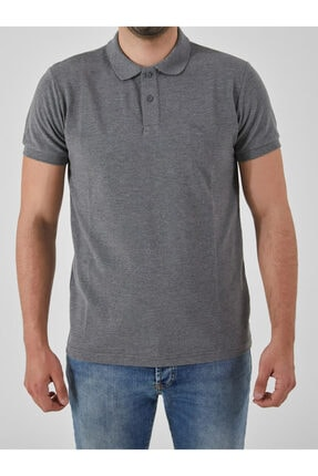 Ltb Erkek  Antrasıt Polo Yaka T-Shirt 012208450860890000 0