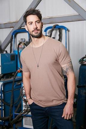 Sateen Men Erkek Taş B. Yaka Kısa Kol T-Shirt 1