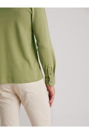 Dufy Yeşil Düz Erkek Sweatshırt - Slım Fıt 3