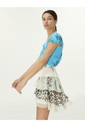 Twist Çiçek Desen Bluz 4