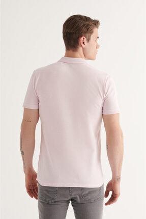 Avva Erkek Açık Pembe Polo Yaka Düz T-shirt A11b1146 3