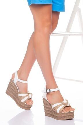 derithy Kadın Beyaz Dolgu Topuklu Ayakkabı 0