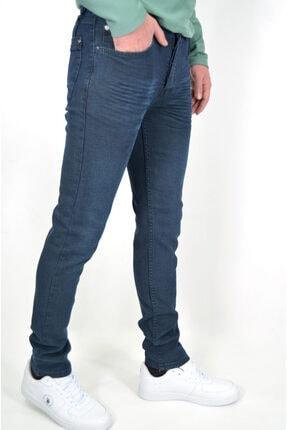 ds danlıspor Erkek Tint Yeşili Likralı Hafif Çizgili Hafif Taşlamalı Denimstar Kot Pantolon 2