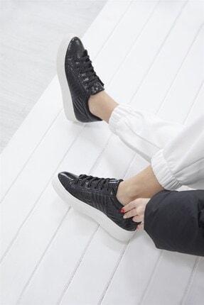 Straswans - Kadın  Siyah Rugan Spor Ayakkabı 1