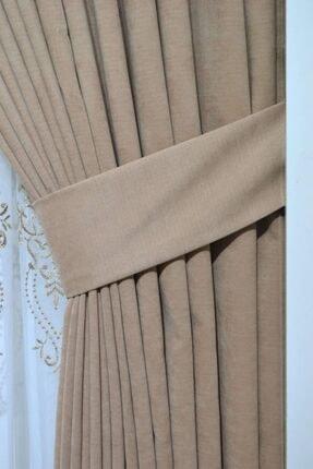 PERDECITY Kadifemsi Kumaş Tek Kanat Fon Perde 80x260 cm 2