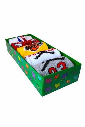 TreBears Çorap Renkli Desenli Basketbol Serisi 5 Li Set 2