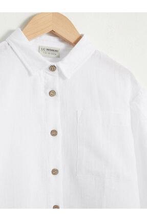 LC Waikiki Kız Çocuk Beyaz Gömlek 2