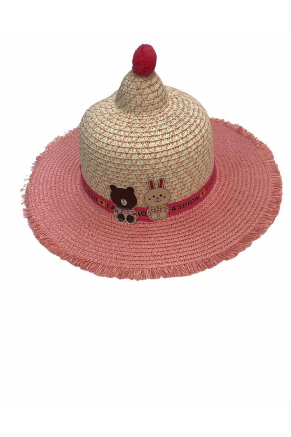 Kostan Aksesuar Kız Çocuk Hasır Şapka