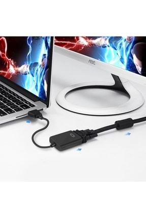 zabata Hdmı To Vga Ses Çkışlı Kablo Çevirici Dönüştürücü Adaptör Projeksiyon Monitor Ps3 Ps4 Uyumlu 3