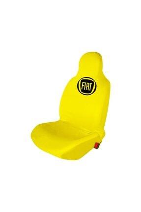 Fiat Egea Penye Oto Koltuk Kılıfı Ön Arka Takım Sarı Egea-Logolu-6