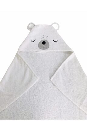 JUNİPERUS %100 Pamuk Ayıcık Banyo Havlu Kundak 0