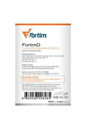 Fortim D Vitamini 1000 Iu (90 Tablet) 4