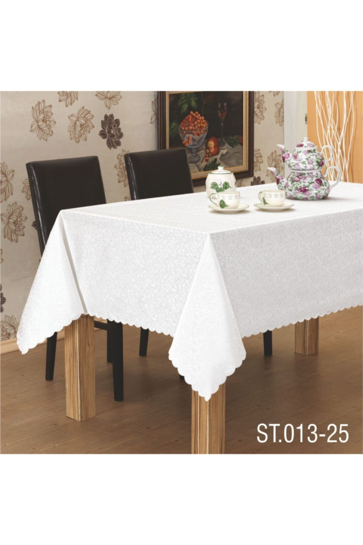 Dertsiz Masa Örtüsü Kdk Beyaz