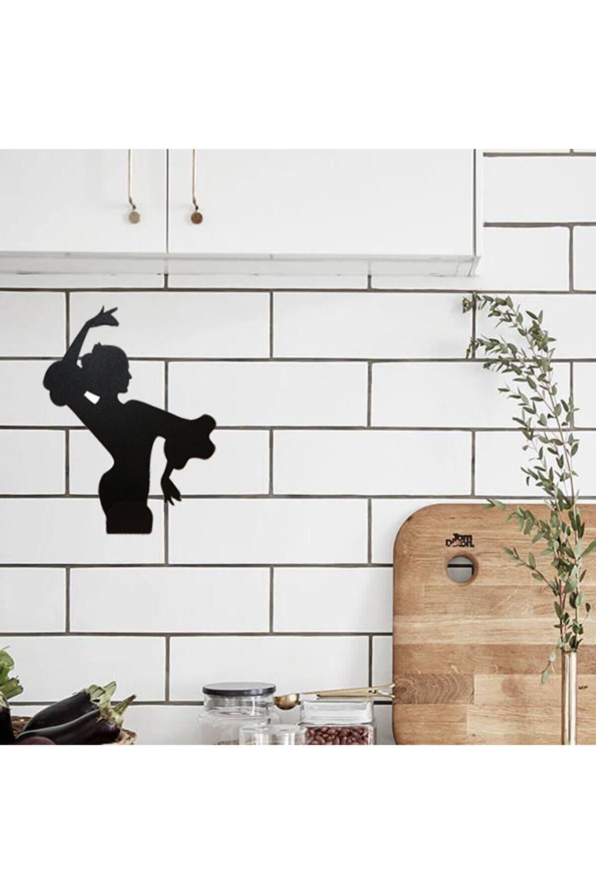 Tango Kadın Figürlü Havlu Kağıt Peçete Rulo Mutfak Askı Raf Asacağı