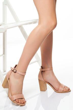 derithy Kadın Pudra Süet Klasik Topuklu Ayakkabı 0
