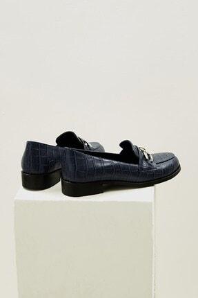 Mio Gusto Kadın Lacivert Bristol Oxford Ayakkabı 4