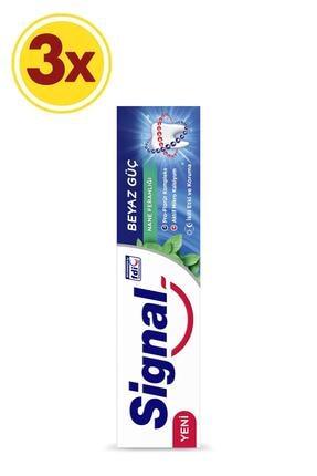 Signal Beyaz Güç Nane Ferahlığı Diş Macunu 100 ml X3 1