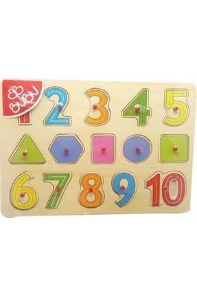 Bubu Ahşap Puzzle Sayılar Ve Geometrik Şekiller 0