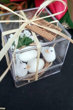 Gulertasarim Çifte Kumru Kuş Mika Kuşlar Kuş Kafesi Söz Kina Nikah Şekeri Bebek Şekeri Hediyelik Paket 30 Adet 1