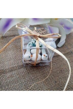 Gulertasarim Çifte Kumru Kuş Mika Kuşlar Kuş Kafesi Söz Kina Nikah Şekeri Bebek Şekeri Hediyelik Paket 30 Adet 3