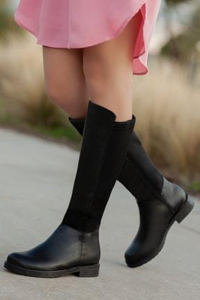 Daxtors D305 Kadın Siyah Kışlık Çizme 2